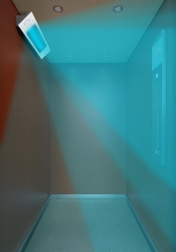 Sanificatore Cabine UV-C – 1 lampada in funzione