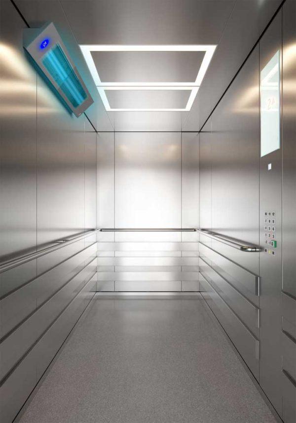Sanificatore Cabine UV-C PRO – lampada in accensione